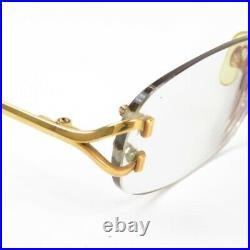 CARTIER Prescription eyeglass frame vintage Glasses gold France Women 73046