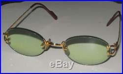 1824d4215aec Cartier Rimless Eyeglass Frame Women s Gold
