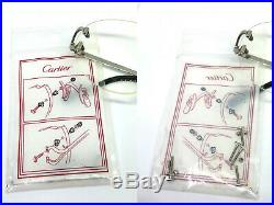 CARTIER RIMLESS Vintage! Eyeglasses / Sunglasses Trinity Santos Silver 3points