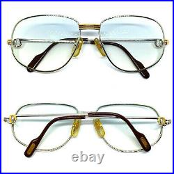 CARTIER ROMANCE LOUIS Vintage Eyeglasses / Sunglasses GOLD Silver Case 20920