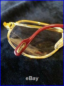 CARTIER Rare EUC Frames Paris France 130 Gold Vintage Eyeglasses 56-16 UNISEX