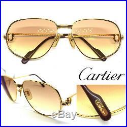 CARTIER Romance Louis 56-16-130 Vintage Eyeglasses Sunglasses Gold Silver 11025