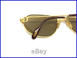 CARTIER Romance Louis 56-16-130 Vintage Eyeglasses Sunglasses Gold Silver 11026