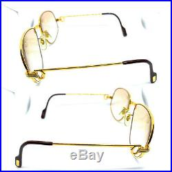 CARTIER Romance Louis 58-18-135 Vintage Eyeglasses Sunglasses Gold Silver 20301