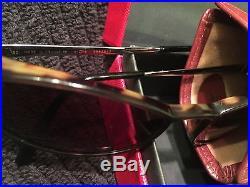 CARTIER Sunglasses Frames Panther Santos Sunset Tortoise & Silver Ca 90'S