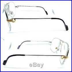 CARTIER TANK Bad Condition Vintage Eyeglasses / Sunglasses Silver 20421
