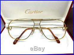 CARTIER TANK Vintage Eyeglasses / Sunglasses with BOX! Santos Vendome 20612