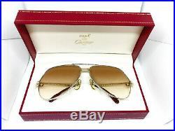 CARTIER Vendome Louis 1983 Silver Gold Vintage Eyeglasses / Sunglasses & BOX