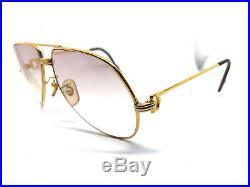 CARTIER Vendome Louis Gold 59-14-140 Vintage Eyeglasses / Sunglasses & BOX