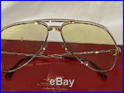 CARTIER Vendome SANTOS 1983 Vintage Large Aviator Eyeglasses with Case