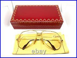 CARTIER Vendome SANTOS 59-14-130 Vintage Eyeglasses Sunglasses with Case 21029