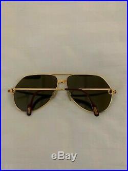 CARTIER Vendome Santos Gold 62-14-140 Vintage Eyeglasses Sunglasses & BOX
