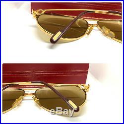 CARTIER Vendome Santos Gold 62-14-140 Vintage Eyeglasses Sunglasses & BOX 11030