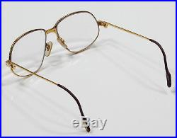 CARTIER Vintage Authentic Gold Frame 135 1980's Made in France Glasses