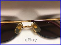 CARTIER Vintage Eyeglasses / Sunglasses OVAL GOLD 45MM RIMLESS BROWN with Case