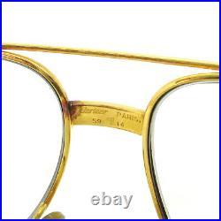 CARTIER Vintage Logos Reading Glasses Eye Wear Gold Brown 5914 AK31455b