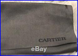 CARTIER Vintage Silver Metal Rimless Ladies Eyeglasses With 2 Cases
