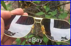 CARTIERs Vendome 18k gold filled sunglasses, made in france, number 8093398