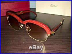 Cartier 1116679 Men's Gold & Brown Gradient Eyeglasses
