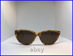 Cartier 22k Gold Jaspe Cat Sunglasses Glasses Eyeglasses Frame Vintage Wood Buff