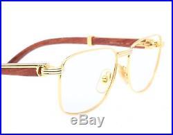 ae0040d12eb Cartier Amboise Bubinga Palisander Rosewood vintage 1990 eyeglasses with  case