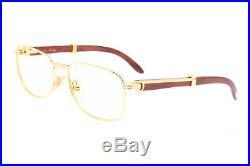 Cartier Amboise Bubinga Palisander Rosewood vintage 1990 eyeglasses with case