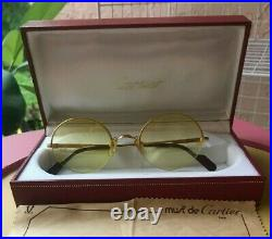Cartier Authentic Gold Plated Frame, Vintage Eyeglasses Brand New- Cartier Case