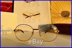 Cartier Bagatelle Bubinga Vintage Sunglasses Lunettes Sonnenbrille Eyeglasses