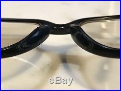 Cartier Black Lumen 22k Gold Vintage Sunglasses Glasses Frames Rare Wire Metal