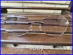 Cartier C-Decor Eyeglasses/Sunglasses Frame Silver Colour Vintage glasant france