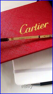 Cartier C Decor Vintage Optical HalfRim Stainless Steel Eyeglass sunglass Frames