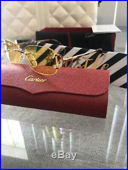 Cartier C Decor Vintage Optical Rimless Stainless Steel Eyeglass sunglass Frames