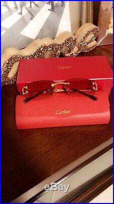 Cartier C Decor Vintage Rimless Stainless Steel Eyeglass sunglass Frames