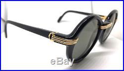 Cartier Cabriolet Black Gold 80s Vintage Eyeglasses / Sunglasses with BOX