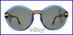 Cartier Cabriolet Blue Gold 80s Vintage Eyeglasses / Sunglasses with BOX