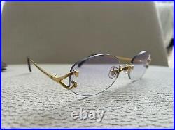 Cartier'Capri' Vintage Rimless Glasses including Original Pouch Case