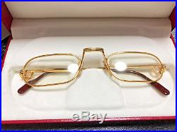 Cartier DEMI LUNE Reading Glassess Vintage Eyeglasses / Sunglasses santos laque