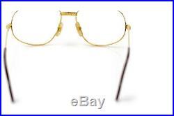 Cartier Eyeglass Frame Trinity Gold X Bordeaux No lenses 1114646