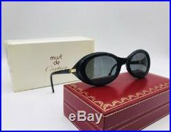 Cartier Frisson Noir Vintage Sunglasses Lunettes Sonnenbrille Eyeglasses