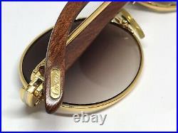 Cartier Giverny Gold Wood Vintage Sunglasses Glasses Eyeglasses Frame Buffalo