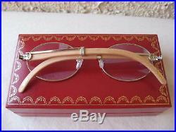 Cartier Giverny (new) Vtg Platinum/bubinga/18k Gold Plated Sunglasses/eyeglasses