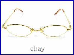 Cartier Glasses Eyewear Eyeglasses 49/19 135 Vintage Men Gold M1596