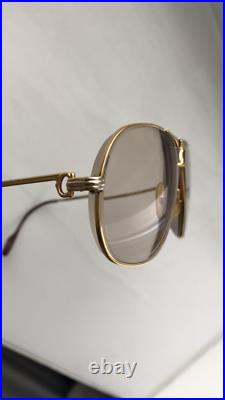 Cartier Glasses Vintage 1988 gold plated authentic 140