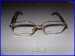 b0ec4cd17e Cartier Glasses Vintage Gold   Wood Frame Paris France