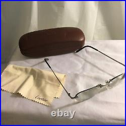 Cartier Glasses With Hard Case and Dust Cloth Made in France 3261487