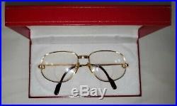 Cartier Gold Eyeglasses Authentic, Vintage, Exclusive Must de Cartier 701