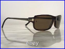 Cartier Gold Santos Vintage Sunglasses Glasses Eyeglasses Frame Buffs Wood Wire