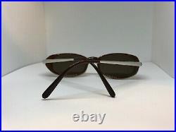 Cartier Havana Aspen Decor Platinum Vintage Sunglasses Glasses Eyeglasses Frame