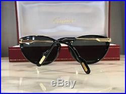 Cartier Lumen Cat Eye 22k Gold Vintage Sunglasses Glasses Frames Rare Wire Metal