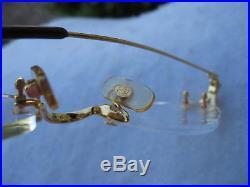 Cartier New Capri Vtg #2606162 1990' 18kt Heavy Plated France Rimless Eyeglasses